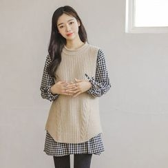 JUSTONE - Sleeveless Cable-Knit Top