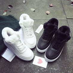 SouthBay Shoes - Fleece Lined High Top Sneakers