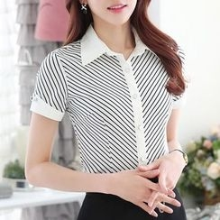 Caroe - Short-Sleeve Striped Shirt
