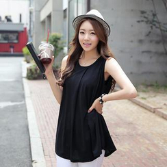 CLICK - Sleeveless A-Line Top
