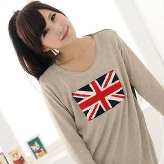 Maymaylu Dreams - Union Jack Long Sleeve Knit Top