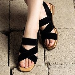 MIAOLV - Cross Strapped Sandals