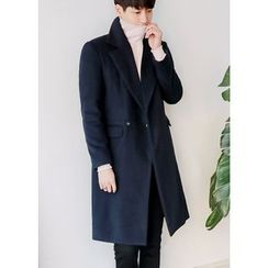 GERIO - Double-Breasted Wool Blend Coat