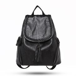 AIDO - Tasseled Genuine Leather Backpack