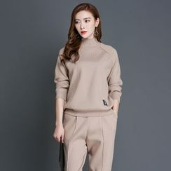 Aegean - Set: Mock Neck Sweater + Knit Pants