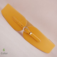 Goldenrod - Faux-Leather Elastic Belt