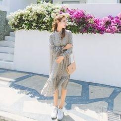 Romantica - Long-Sleeve Printed Dress