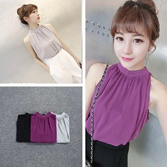 Melon Juice - Sleeveless Chiffon Top