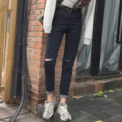 Dute - Distressed Slim Fit Jeans