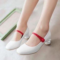 錦洋鞋業 - 綴飾扣高跟鞋