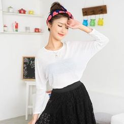 59 Seconds - Batwing Sleeve Knit Top
