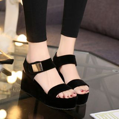 Charming Kicks - Platform Wedge Sandals