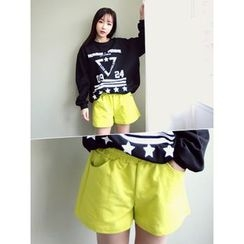 LOLOten - Band-Waist Cotton Shorts