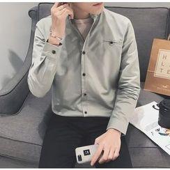 Bestrooy - Plain Long-Sleeve Shirt