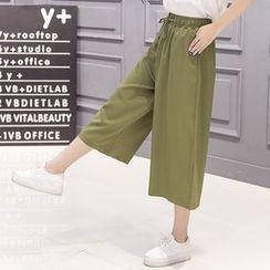 Fashion Street - Capri Wide-leg Pants