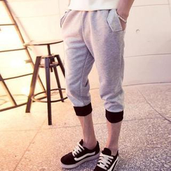 Evolu - Contrast Trim Drawstring Sweatpants