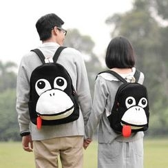SUPER LOVER - Monkey-Accent Canvas Backpack