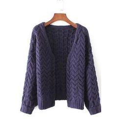 藍玫瑰衣坊 - 麻花針織開衫