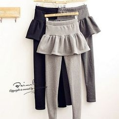 Cappuccino - Inset Skirt Leggings