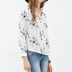 Richcoco - Lily Print Chiffon Shirt