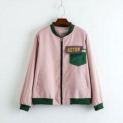 TOJI - Contrast-Trim Zip Jacket