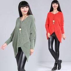 Diosa - Furry V-Neck Sweater