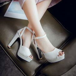 JY Shoes - Ankle Strap Platform Sandal Pumps