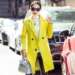 Romantica - Wool Blend Buttoned Coat