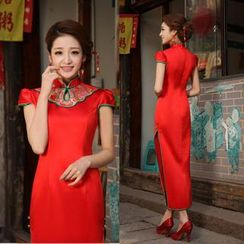Bridal Workshop - Cap-Sleeve Long Cheongsam