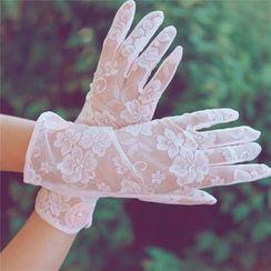 罗煞秀 - 防晒蕾丝手套