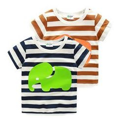 WellKids - Kids Short-Sleeve Striped Print T-Shirt