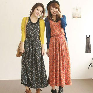 Tokyo Fashion - Patterned Maxi Tank Dress