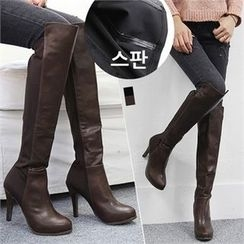 Reneve - Stiletto-Heel Over-the-Knee Boots