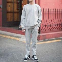 STYLEMAN - Set: Fleece-Lined T-Shirt + Fleece-Lined Sweat Pants