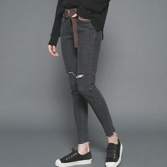 Envy Look - Fleece-Lined Skinny Pants