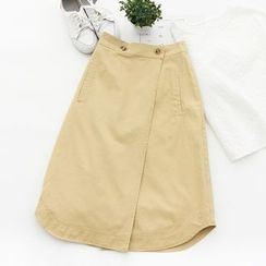 Forest Girl - Plain A-Line Midi Skirt