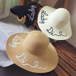 FROME - Embroidered Straw Hat