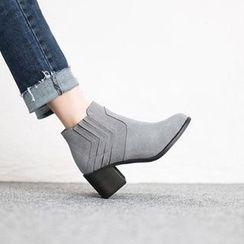 VIVIER - Faux-Suede Ankle Boots