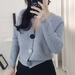 Seoul Fashion - Big-Buttoned Cardigan
