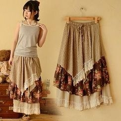 Moriville - Floral Panel Maxi Skirt