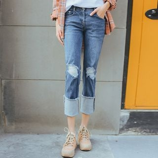 MIKPO - Distressed Jeans
