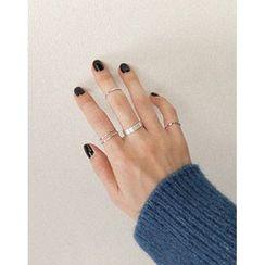 UPTOWNHOLIC - Set of 4: Rings