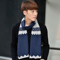 Amandier - 菱格纹围巾