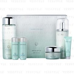 Missha - Super Aqua Marine Stem Cell Special Gift Set (6 items): Toner (150ml + 30ml) + Emulsion (130ml + 30ml) + Cream (50ml + 10ml)