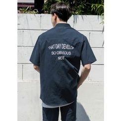 GERIO - Lettering Pocket Shirt