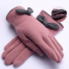 RGLT Scarves - Bowed Wool Blend Gloves