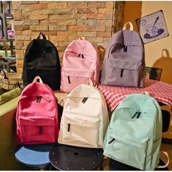 Shinian - Plain Canvas Backpack