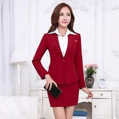 Princess Min - One-Button Blazer / Pencil Skirt / Pants