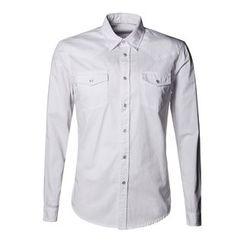 Mannmix - Plain Long-Sleeve Shirt