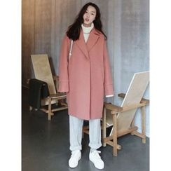 maybe-baby - Stitched-Trim Wool Blend Coat